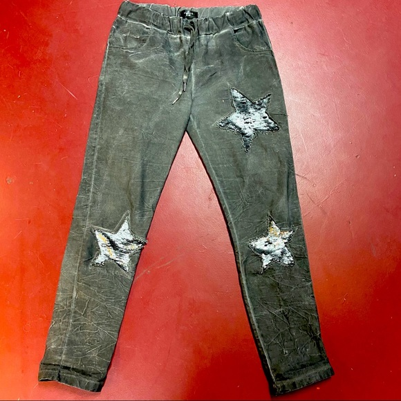Ventti Pants - Venti6 Sequins Star pants Made in Italy size 8